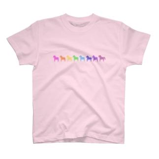 ミニダーラナホース_レインボー T-shirts