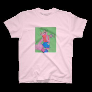 Yum!Yum!BEADSの謎のキャッチャ T-shirts