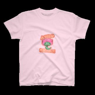 Kurugra の お店のアフロスネーク T-shirts