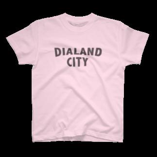 DIALAND LOVERSのDIALAND CITY GRAY T-shirts
