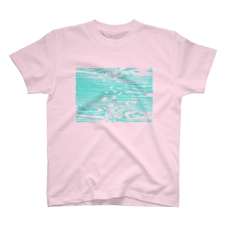 AW18 - river - 透過木目 T-shirts