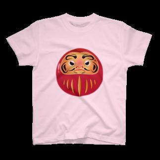 chicodeza by suzuriのあなたはだるまに見張られているTシャツ T-shirts