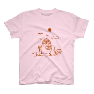 米とスズメ【淡色Tシャツ用】 T-shirts