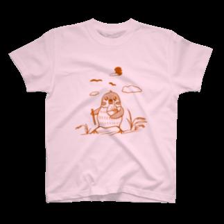 ✳︎トトフィム✳︎の米とスズメ【淡色Tシャツ用】 Tシャツ