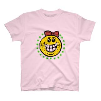 笑い太郎リボン付き T-shirts