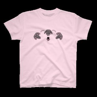 MST@twins lapin うさまろのゴロゴロするうさまろさん T-shirts