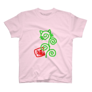 唐草猫 T-shirts