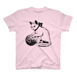 ボール遊び 黒線 T-shirts