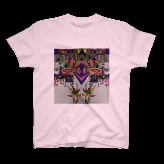 冬虫夏草洋品店の色付き口だけの人 T-shirts