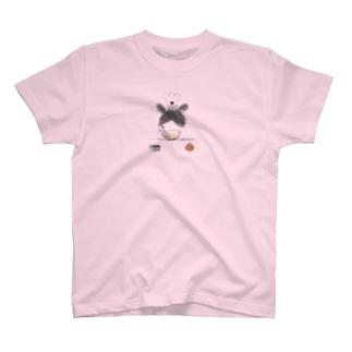 ケーキづくりのパンくん T-shirts