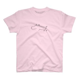 生活に溶け込むコーギィ 5.6オンス T-shirts