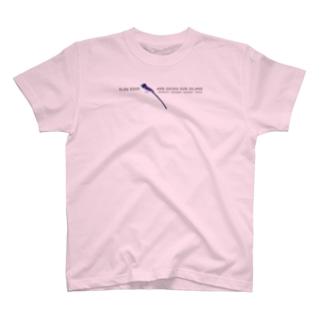 しまのなかまSLOW サンコウチョウ T-shirts