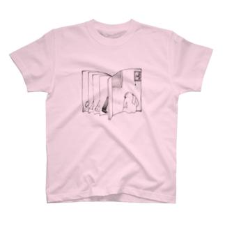 男の背中 T-shirts