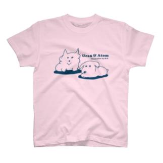 ウランとアトム(ネイビー) T-shirts