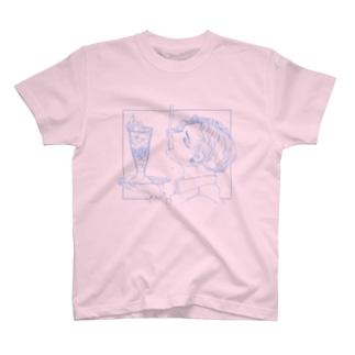 mmiyamotoの夏のデザート(水色) T-Shirt