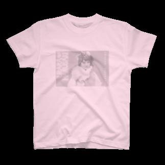 VividCafeの春咲ウララ モノクロ T-shirts