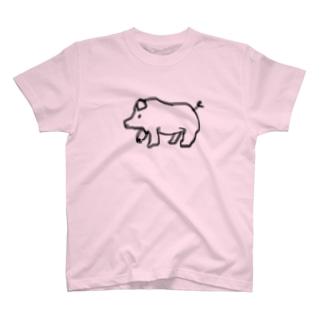 ブタ T-shirts