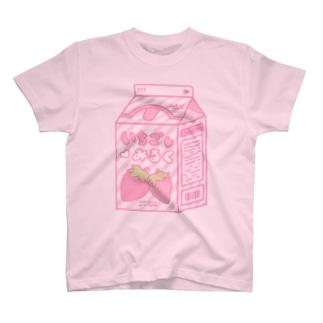 チェックピンク×MIMI T-shirts