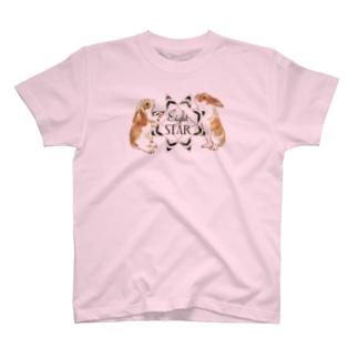 うさぎとエイトスター T-shirts