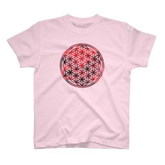 レッドガーネット (大) T-shirts
