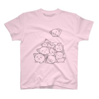 つぶされしょぼりんこくん(黒文字) T-shirts
