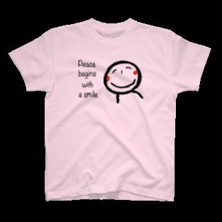 rurisapapa の微笑み T-shirts