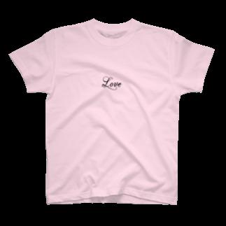 n4yaの2019 aw -LOVE- T-shirts