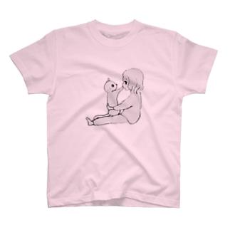 にゃんことわたし T-shirts