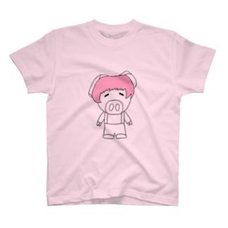 ミニブタの子豚のトン子ちゃん。 T-shirts