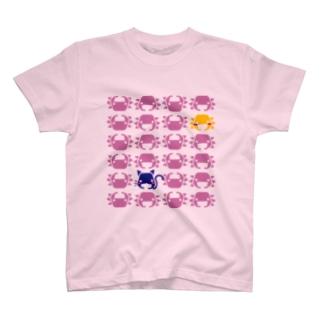 ぺたぞうマーク(並び) T-shirts
