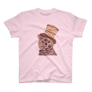 Dandy cat -紳士猫 T-shirts