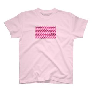 3Dハートのかわいいパターン T-shirts