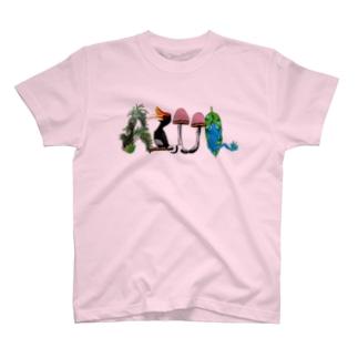 "Dark Blanco ""AZUL"" ジャングル T-shirts"