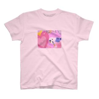 セキセイインコのピーちゃん T-shirts