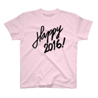 HAPPY 2016正月 グッズ STYLISH BLACK T-shirts