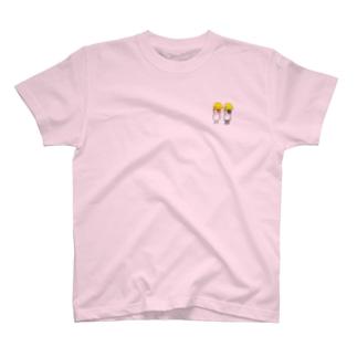 ペアルックヘルメットモルモット T-shirts