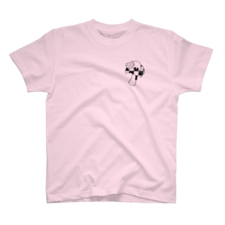B6_6bitのmushroom T-shirts