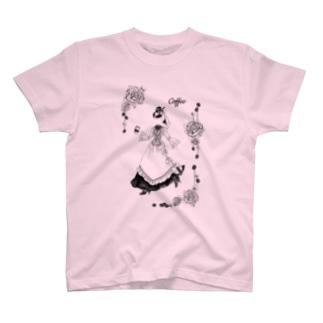 【Lady's sweet coffee】コーヒー T-shirts