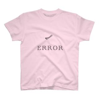 ホチキス失敗文字入り T-shirts