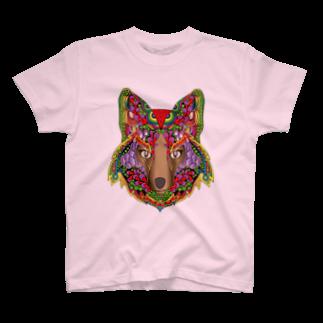 Drecome_Designのキツネ T-shirts