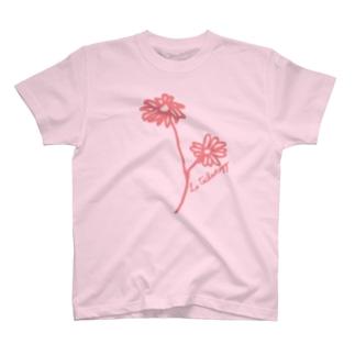 マーガレットピンク T-shirts