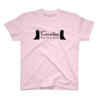 キャバリア シルエット2 T-shirts