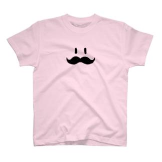 ヒゲ(黒) T-shirts