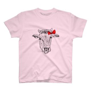 女の子の牛さん。 T-shirts