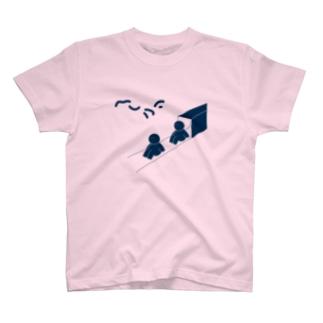 ヘリウムくん(ネイビー) Tシャツ