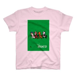 でんしゃいぬこ T-shirts
