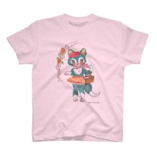 青ねこちゃんのお買い物 T-shirts