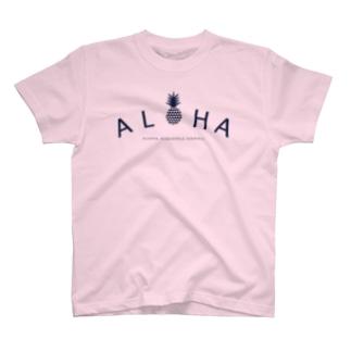ALOHA(heart)036Navy T-shirts