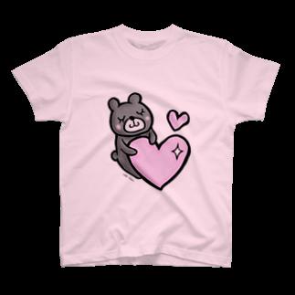 ~Good Luck Charm~ 海月叶音の【再販】ほっこりクマさん T-shirts