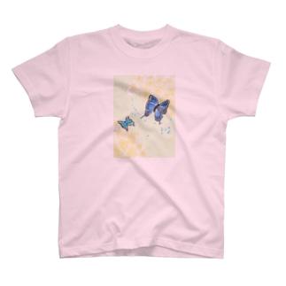 厘屋 ・rin-ya・の蝶と花 T-shirts